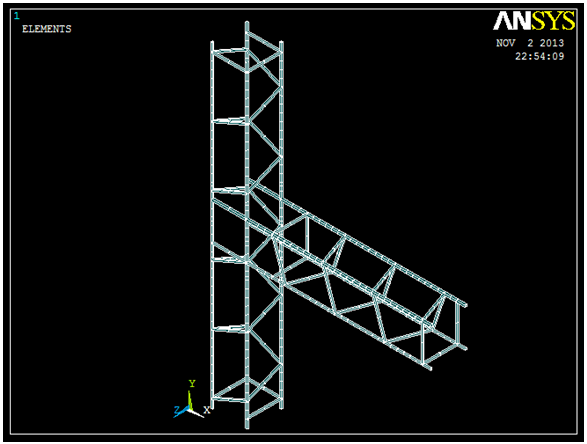 Figure 8b  Typical View of ANSYS Model for Single Square