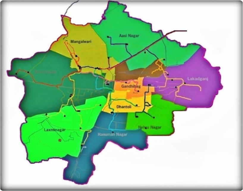 figure 3  shows the zone map of nagpur city  source