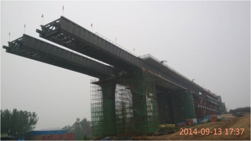figure   incremental launching constructions panorama  prestressed concrete box girder