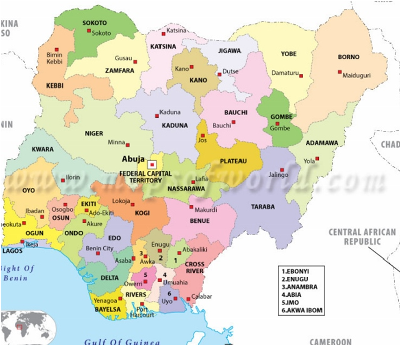 Figure 1. Map of Nigeria showing Port Harcourt city; Source: www ...