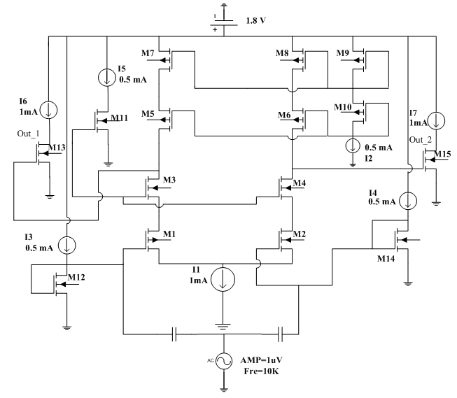 High Gain Two Stage Fully Differential Audio Amplifier
