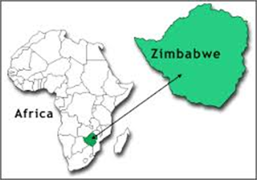Figure 1 Map of Africa showing the position of Zimbabwe 15 HIV