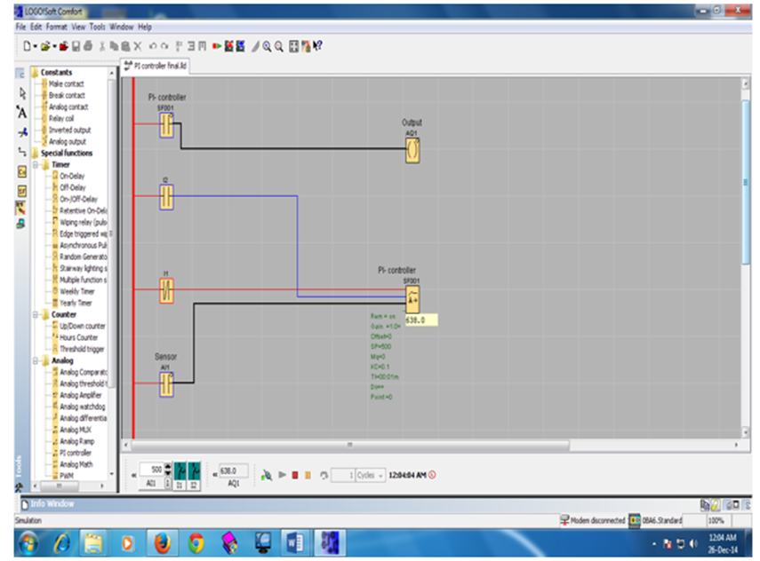 Figure 22. Ladder diagram online test simulation view : Design and ...