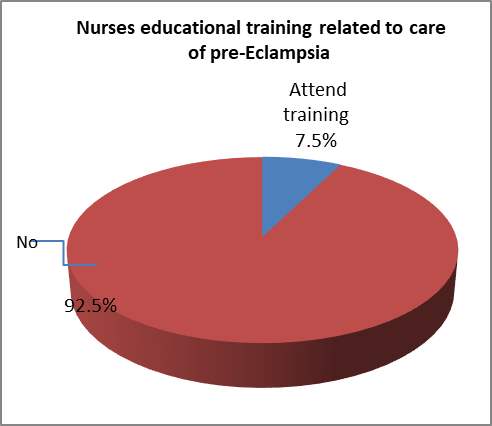 Figure 1 Distribution Of Nurses By Their Educational Training