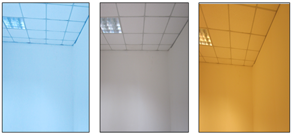 Photographs of the three different CCT of light taken with digital camera. From left to right 3000K 4000K and 6500K light environment (CCT)  sc 1 st  Science and Education Publishing & Effects of Lightu0027s Colour Temperatures on Visual Comfort Level Task ...