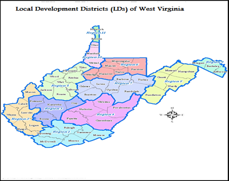 Employment Change in LDs of West Virginia A Dynamic Spatial Shift