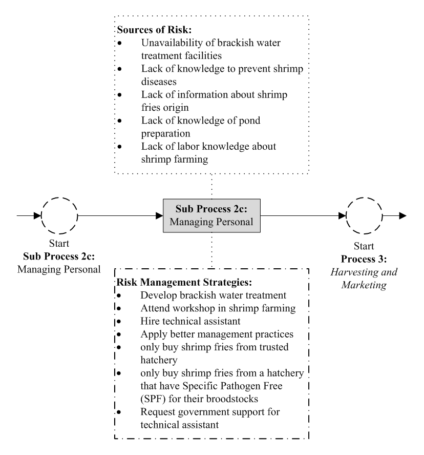 Figure 8  Sub Process 2c: Managing Personal Risk : Integrating Risk
