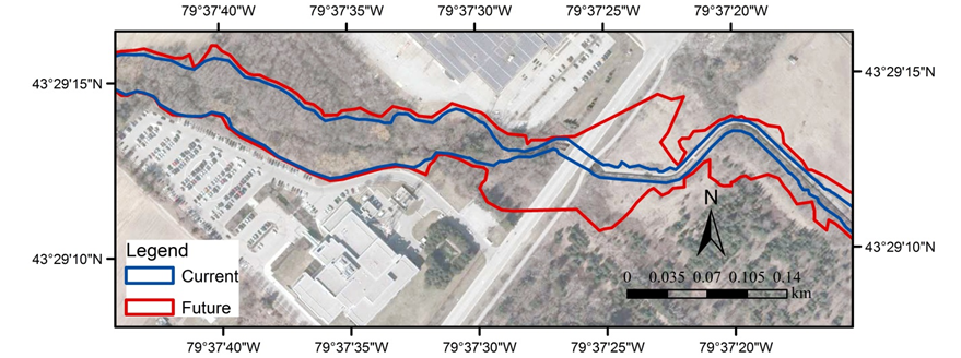 Figure Flood Line Map For A Section Of Clearview Creek - Flood line map