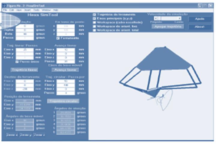 Figure 5  Main window of the Hexa tool for matlab