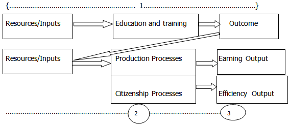 figure 1  a model of human capital theory  swanson  2001    nigerian universities outputs and