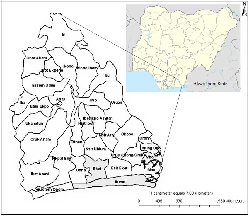 Figure 1. Map of Nigeria Showing the Location of Akwa Ibom ... on map of benue state, bayelsa state, ekiti state, enugu state, rivers state, edo state, map of plateau state, lagos state, map of karnataka state, delta state, map of borno state, benue state, map of nasarawa state, anambra state, map of enugu state, map of maharashtra state, ondo state, map of chihuahua state, map of kaduna state, map of aguascalientes state, map of montana state, adamawa state, map of ogun state, imo state, map of osun state, map of adamawa state, abia state, map of michigan state, map of jigawa state, map of jharkhand state, map of katsina state, kano state, ogun state, map of zamfara state, cross river state, map of imo state,