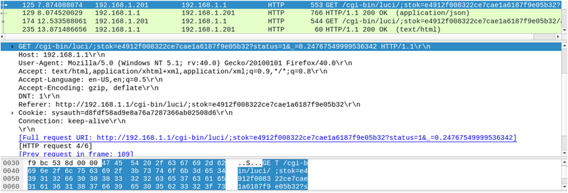 Figure 7  OpenWrt Authentication Token : The State of