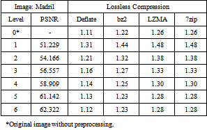 Table 3  Compression Ratios of Preprocessed Image with