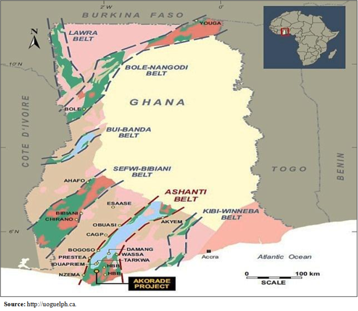 Figure 3b. Minerals Deposit (Belts) Map of Ghana : Illegal Small ...