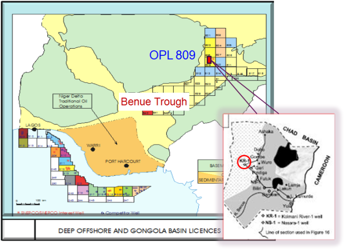 Figure 1 Geological Map of Nigeria showing the Gongola basin and