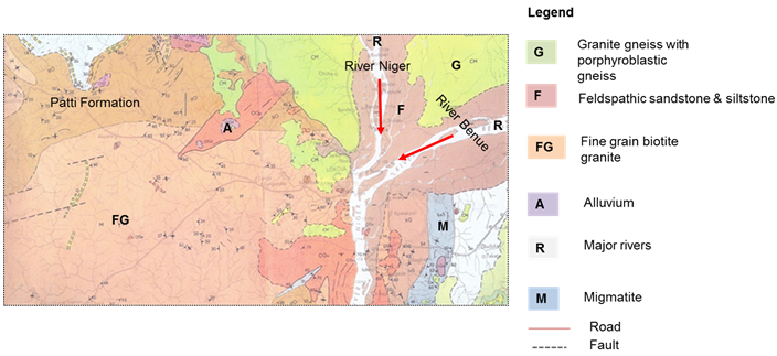 Benue River Africa Map.Geomorphic Resources And Tourism Potentials Of The Niger Benue