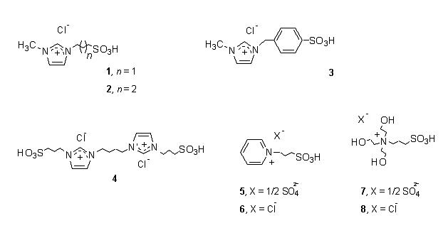 Sulfonic Acid Group Functionalized Ionic Liquid Catalyzed