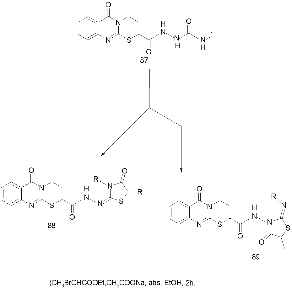 study on quinazolinone and thiazolidinone Exploring potential of 4-thiazolidinone: a brief review: 47-64 full text (pdf) study of phytochemical and diuretic potential of methanol and aqueous extracts of aerial parts of phyla nodiflora linn synthesis and antibacterial activity of quinazolinone derivatives: 163-169 full text (pdf.